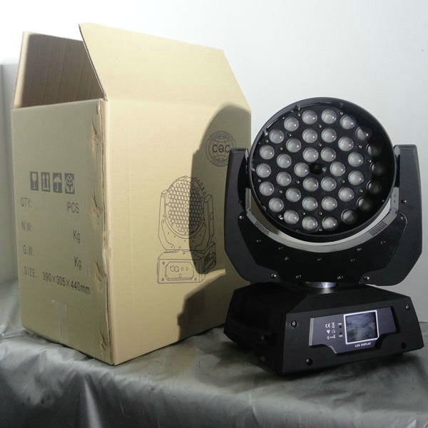 Quad 4-In-1 RGBW LED Wash Moving Head Light With Zoom 36 Pcs * 10W CE Approved
