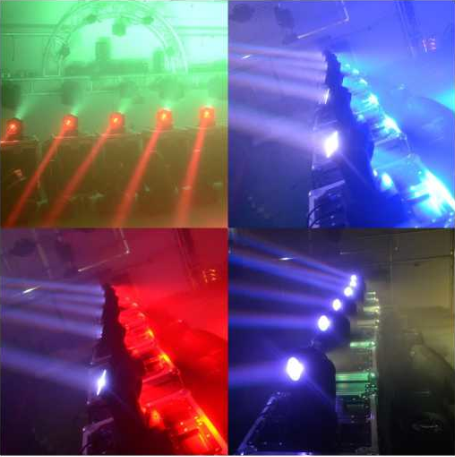 Endless Rotation Wash LED Stage Light / LED Disco Lighting Two Face 4 * 10W