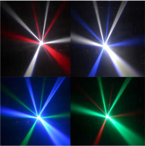 Sound Activated Rgbw LED Disco Light 4 Pcs 25W With Super Beam Moving Head