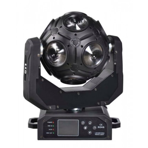 RGBW 4 In 1 Beam Moving Head Light 6° Angle Double - Rotation Football Shape