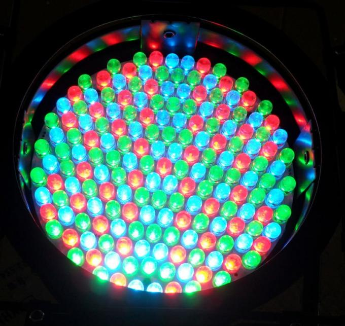 10mm Multi Color 4 Channel DMX LED Par 64 Can Lights 15 - 40 Degree Beam Angle