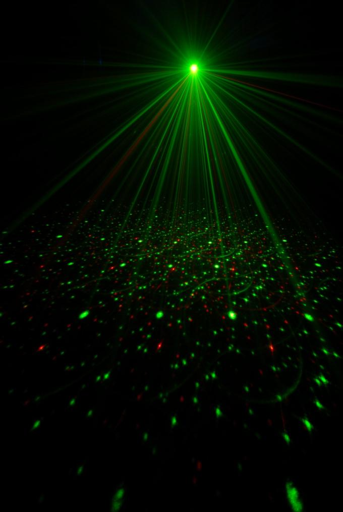 Sound Active LED Laser Special Effects Lights With Strobe 120 Degrees Wide Angle