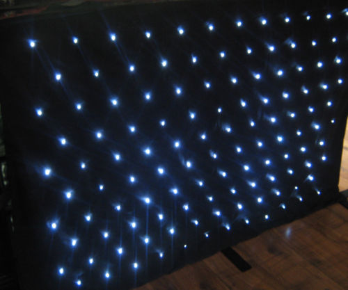 Twinkling Stars Effects Stage LED Curtain Lights 120W Sound-Activated 7 DMX Channel