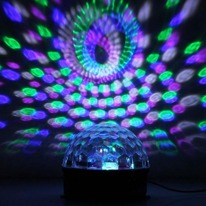 RGB / RGBW Magic Ball LED Christmas Light 20 Watt Sound Activated With Stepper Motor