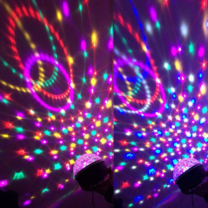 Sound Crystal Led Magic Ball Light , Olympic Circles Multi Colored Christmas Lights
