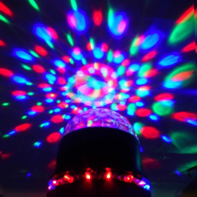 Rotating Magic Ball Shape LED Stage Light Indoor Christmas Lights For Party