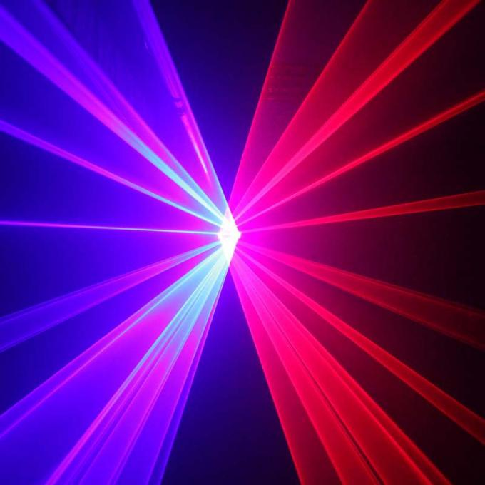 80mW Double Heads Beam Music Disco Laser Lights For Parties / DJ AC 100 - 240V
