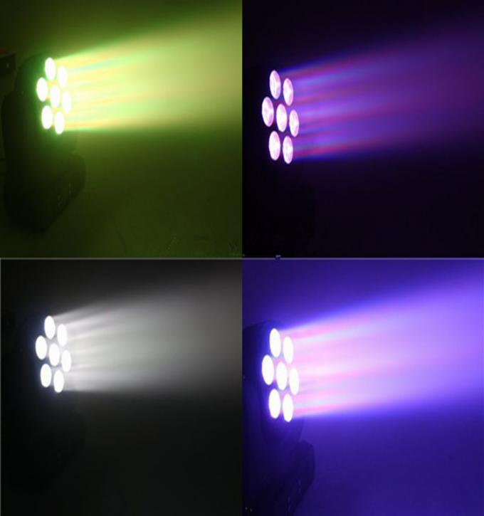 7 Pc 12W 4in1 LED Mini Moving Head Light RGBW Wash Light Disco LED Stage Lighting