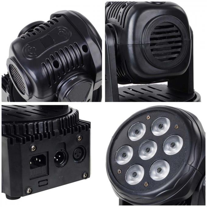 7x12W Led Beam Moving Head Light rgbw 4 in 1 Wash Light Mini Stage Lighting