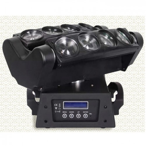 8PCS 10W RGBW  / W Led Spider Dmx 512 Moving Head Beam Light , Led Disco Lights