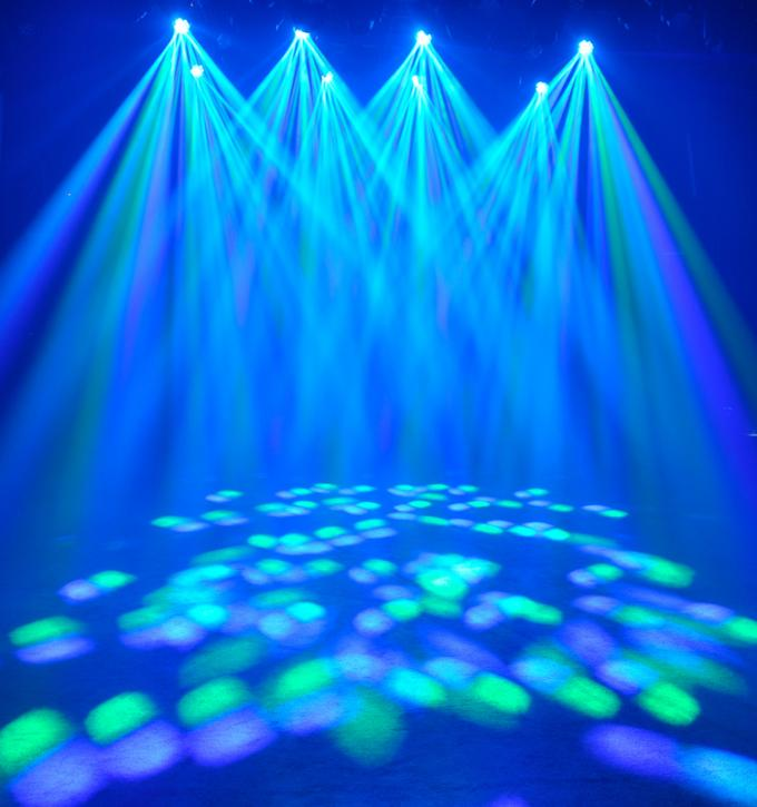 DMX 12PCS 10W 4 IN 1 LED Flower Moving Head Pattern Beam Stage Moving Head Light