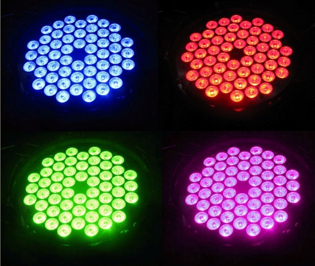 AC100-240V , 50-60hz LED Par 54 Light 1W Full color RGBW LED Par Light , LED Bar Lights