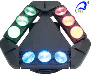 China 9 Heads 10W 4in1 RGBW LED Spider Moving Head Stage Light Quad - Color 5 Degree supplier