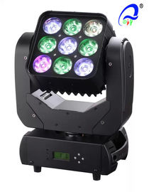 China 9 * 12W RGBW 4-In-1 Moving LED Matrix Beam Light Sharpy Beam Effect 9 Pixel supplier