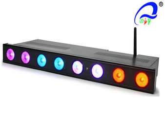 China 3 Watt Tri - Color RGB Wireless LED Par Cans With Rechargeable Lithium Battery supplier