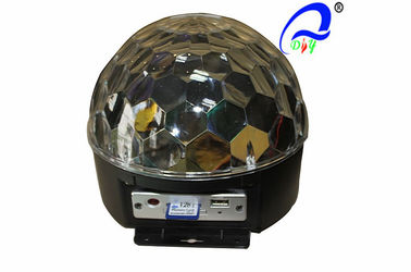 China Mini DMX RGB MP3 LED Crystal Magic Ball Lamp Dj Lighting Effects Remote Controller supplier