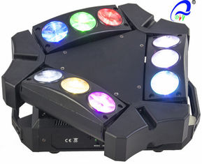 China 9 * 10W RGBW / White Mini 9 heads LED Spider Moving Head Light Quad - color supplier