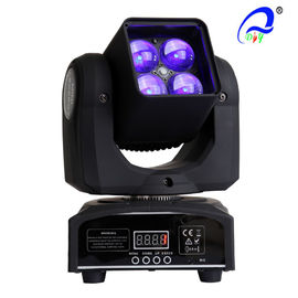 China 4 Pcs 15W 4 In 1 Osram LED Moving Head Zoom LED Disco Light DMX512 AC100 - 240V supplier