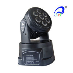 China 7x12W Led Beam Moving Head Light rgbw 4 in 1 Wash Light Mini Stage Lighting supplier
