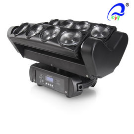 China 8PCS 10W RGBW  / W Led Spider Dmx 512 Moving Head Beam Light , Led Disco Lights supplier