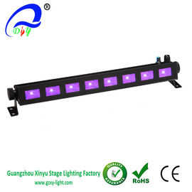 China Cheap 8pcs*3w LED UV Light  Bar Black Light, Metallic Black supplier