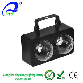 China Four Or Two Head Magic Crystal Ball Effect LED Disco Party Stage Light supplier