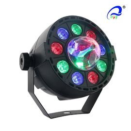 China IP65 9pcs*1W Mini RGB Flat LED Par Light With Crystal Ball Moving Light distributor