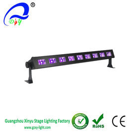 Black Light Bar with 9x3W UV LED Bar in Metal Housing for party