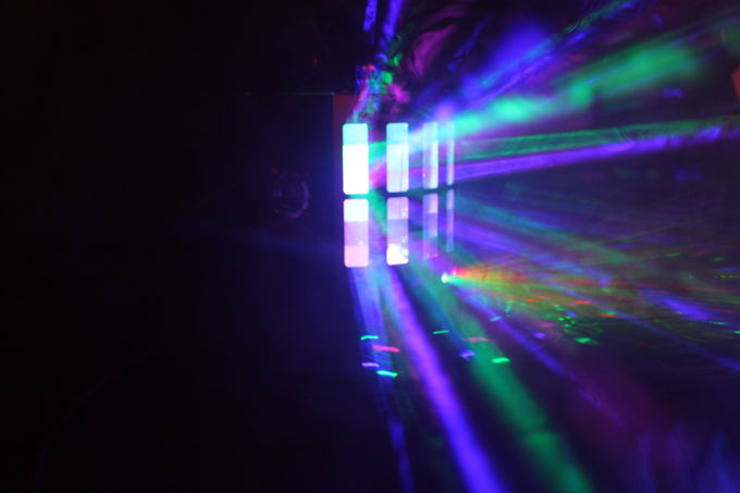4IN1 Led Derby Light 9 Colors 6PSC UV With Remoted Control Laser Disco Stage DJ Party